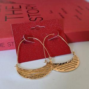 Simply Mahari Jewelry - Gold Plated Crescent Hoop Earrings